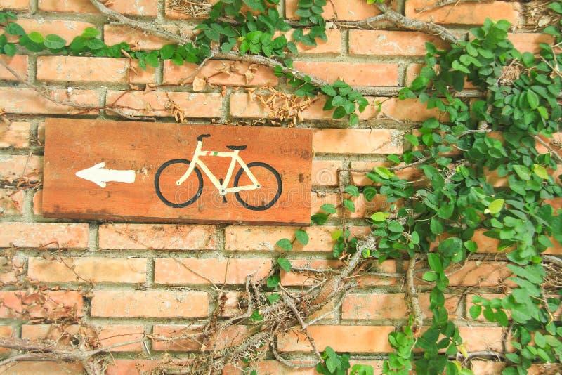 Cykelrutttecken arkivbild