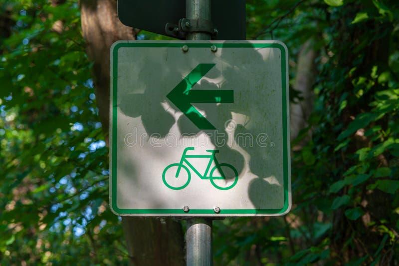Cykelrutttecken royaltyfria foton