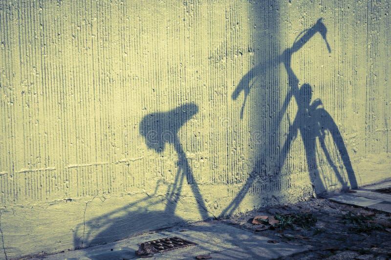 Cykelskugga arkivfoto