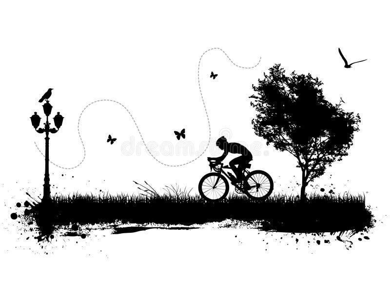 cykelstad stock illustrationer