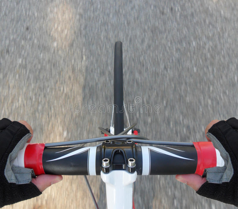 cykelstyre royaltyfria bilder