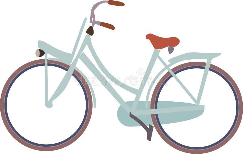 cykelsymbol av den holländska cykeln utan bakgrund royaltyfri illustrationer