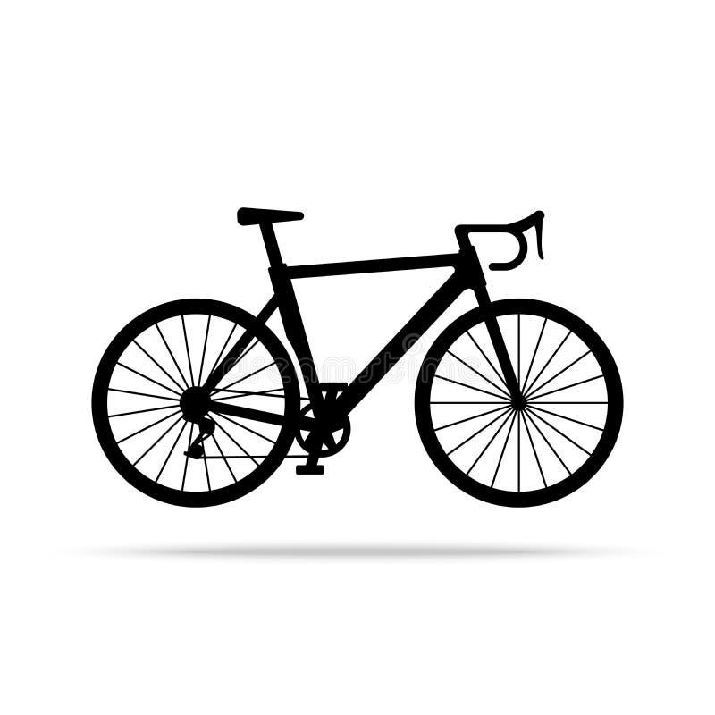 Cykelsymbol Cykelvektor som isoleras på vit bakgrund royaltyfri illustrationer