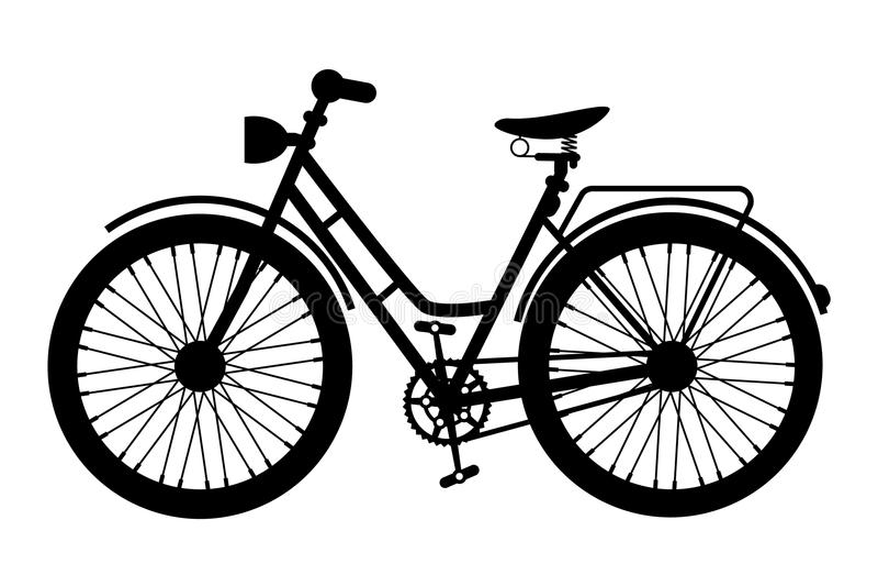 Cykelsymbol E royaltyfri illustrationer