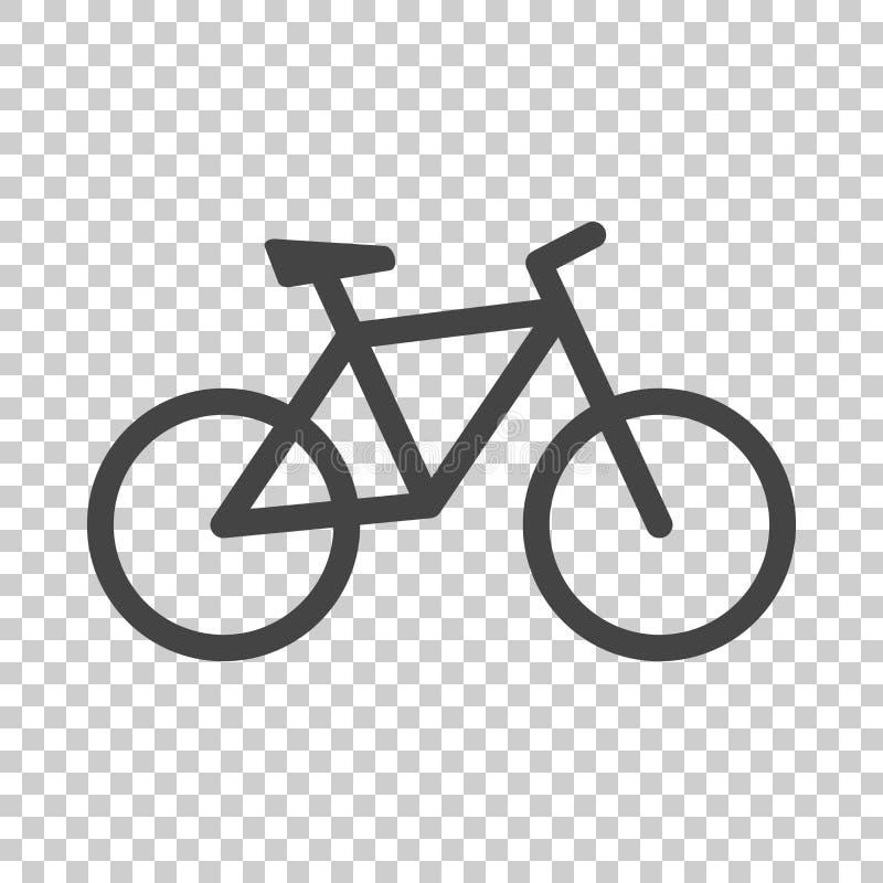 Cykelsymbol på isolerad bakgrund Cykelvektorillustration in stock illustrationer