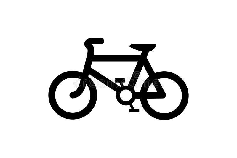 Cykelsymbol på vit bakgrund royaltyfri illustrationer