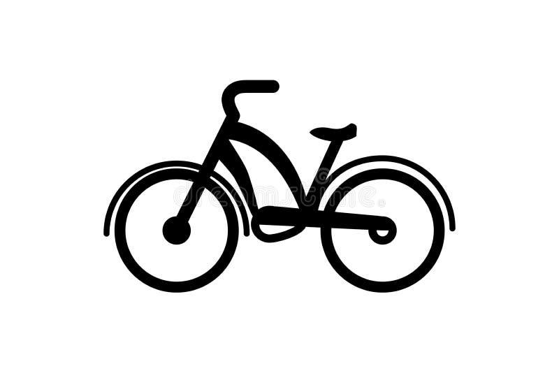 Cykelsymbol på vit bakgrund stock illustrationer