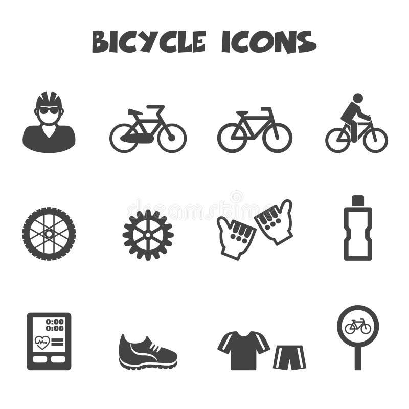 Cykelsymboler stock illustrationer