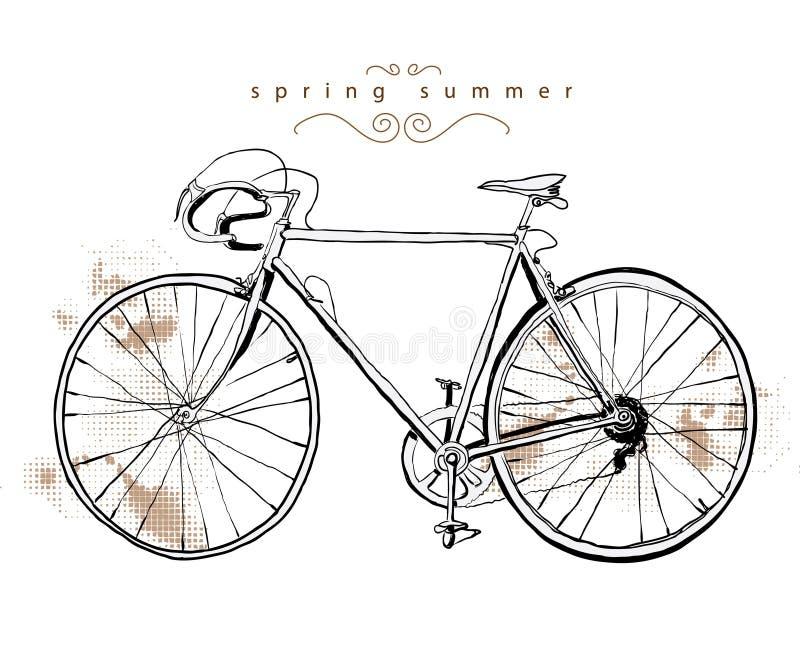 cykeltappning stock illustrationer