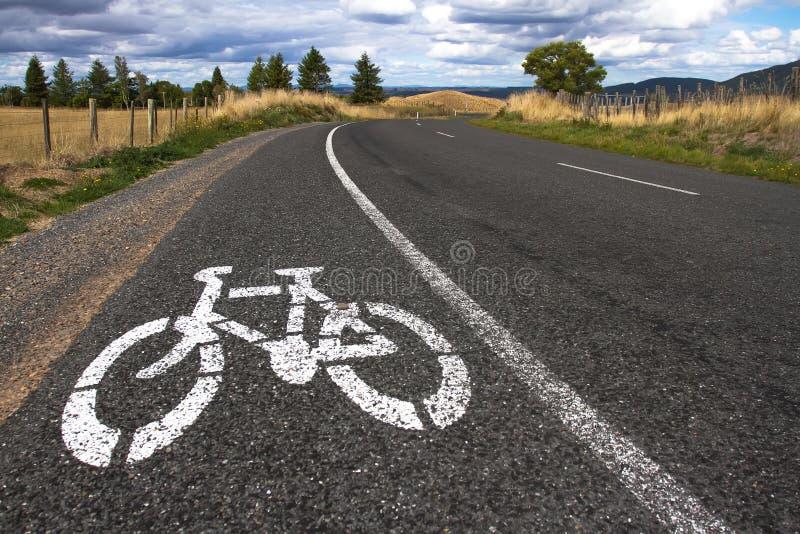 Cykeltecken fotografering för bildbyråer
