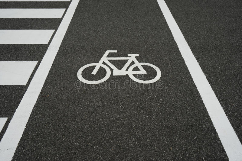 Cykeltecken 2 royaltyfri foto