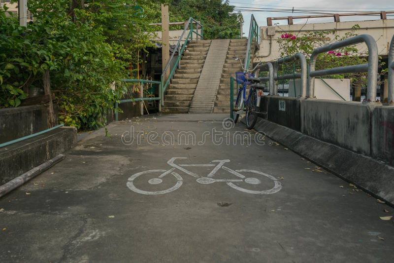Cykeltecken royaltyfria foton