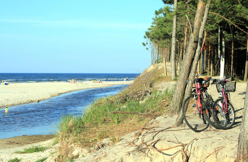 cykeltur arkivbild