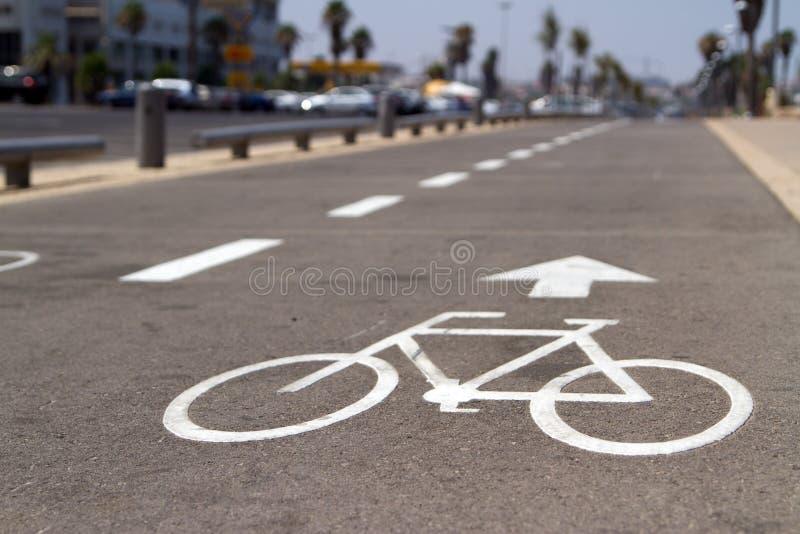 cykelvägmärke royaltyfria foton