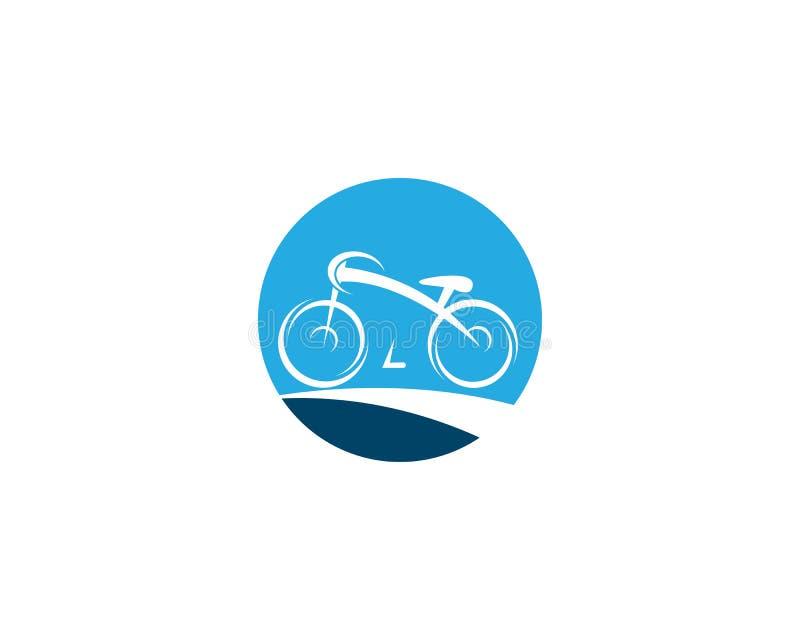 Cykelvektorsymbol vektor illustrationer