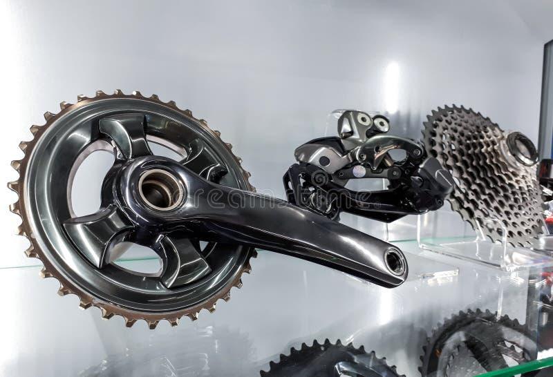 Cykelvev och baksidakassett arkivbilder