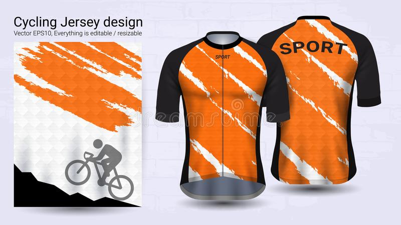 Cykla ärmlös tröja, den korta mallen för muffsportmodell, grafisk design för cykeldräkt eller bekläda outerwear och den raingear  vektor illustrationer