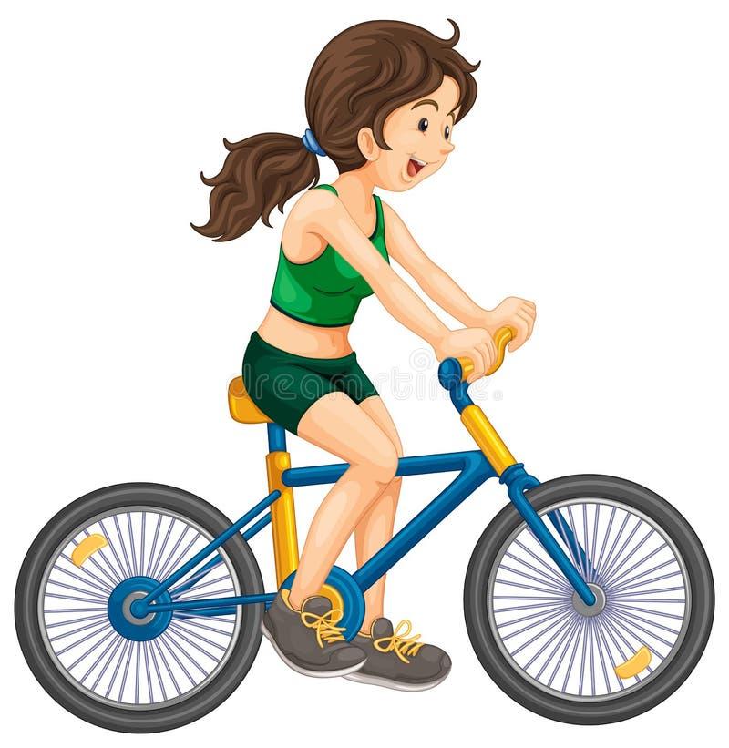 Cykla royaltyfri illustrationer