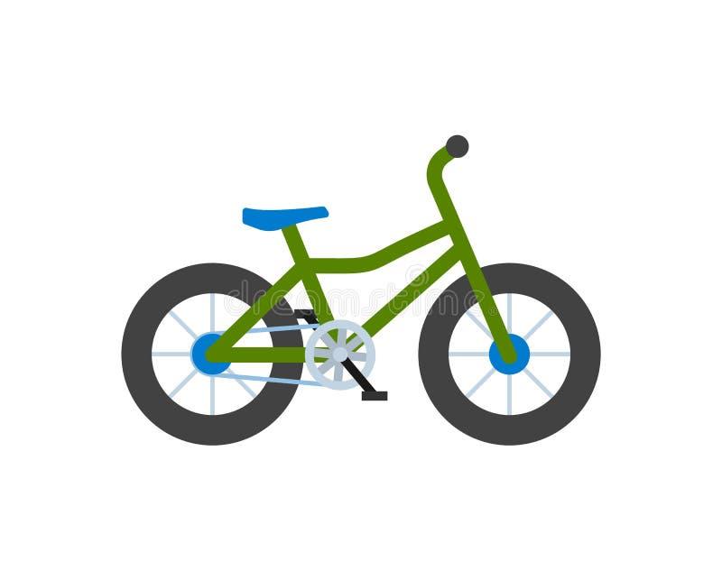 Cykla closeupen, cykel med hjul isolerade symbolen stock illustrationer