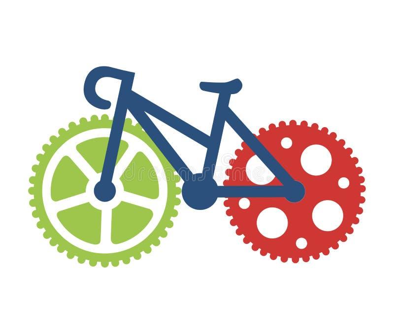 Cykla design stock illustrationer