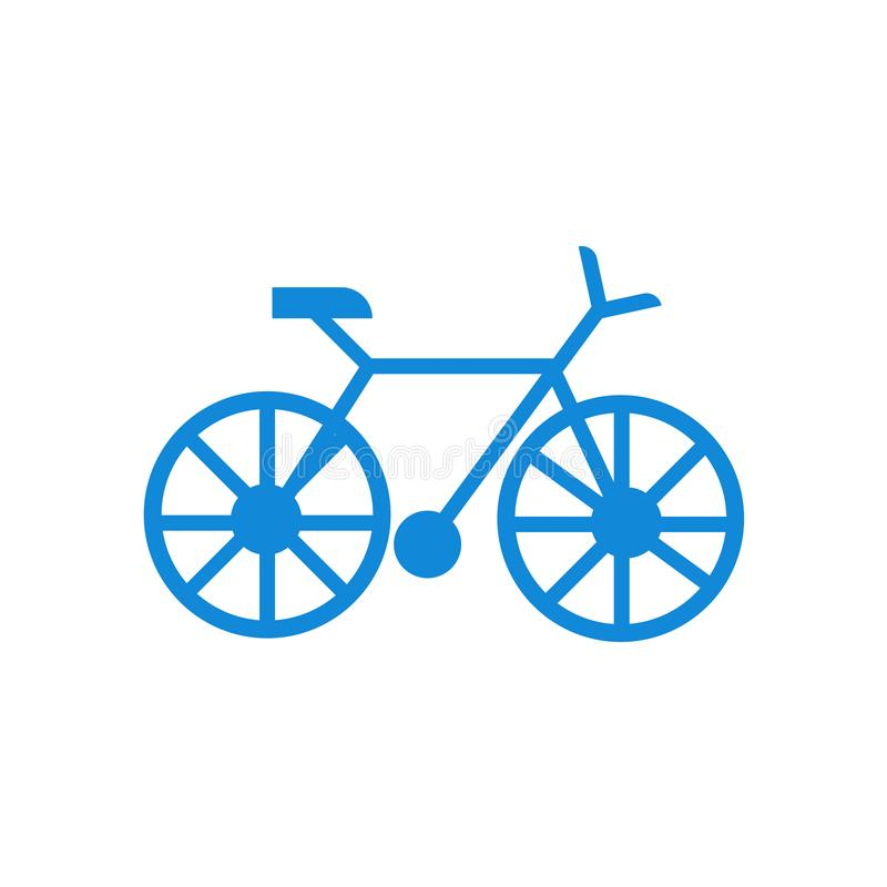 Cykla det symbolsvektortecknet och symbolet som isoleras på vit bakgrund royaltyfri illustrationer