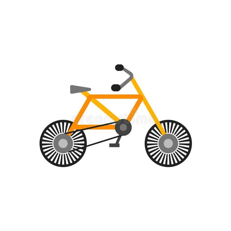 Cykla det symbolsvektortecknet och symbolet som isoleras på vit bakgrund, cykellogobegrepp vektor illustrationer