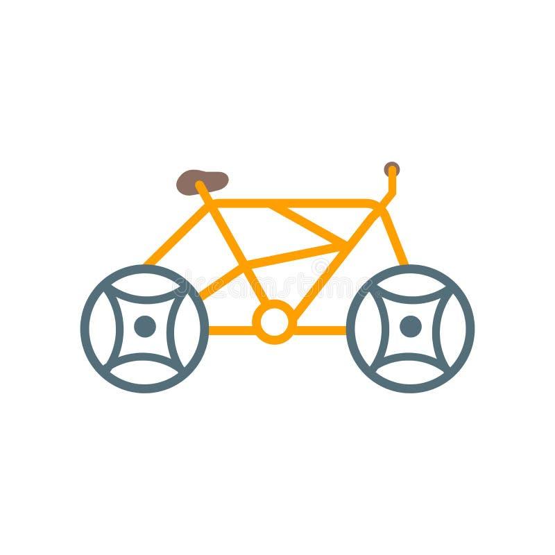 Cykla det symbolsvektortecknet och symbolet som isoleras på vit bakgrund, cykellogobegrepp royaltyfri illustrationer