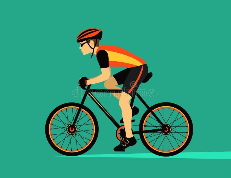 Cykla för sportcykel stock illustrationer