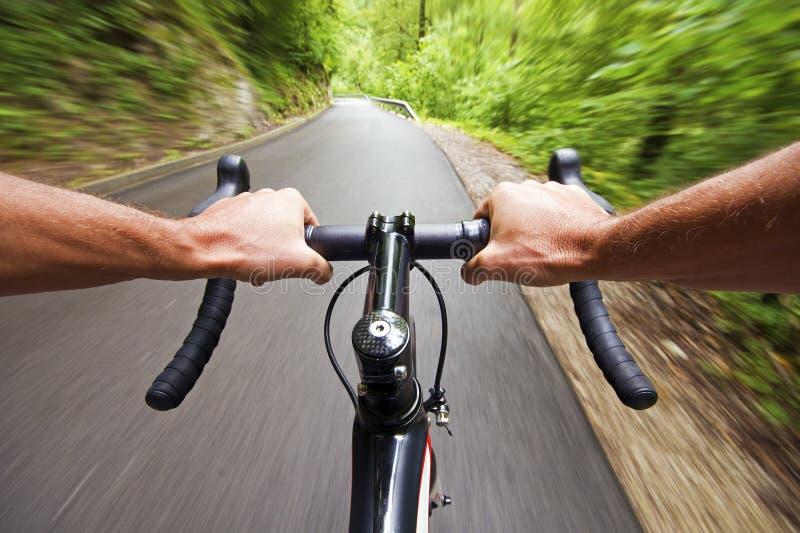 Cykla för väg arkivfoto