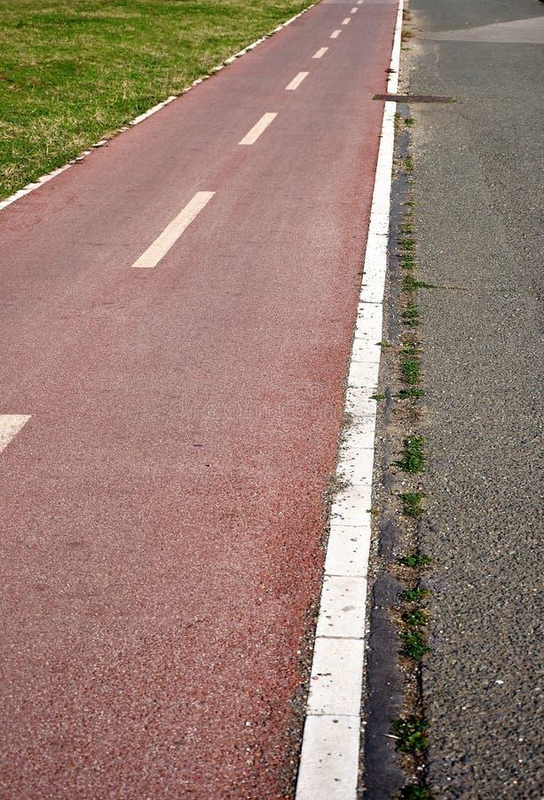 cykla lane arkivfoto
