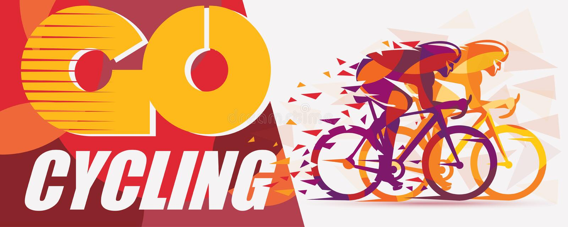 Cykla lopp stiliserad bakgrund stock illustrationer