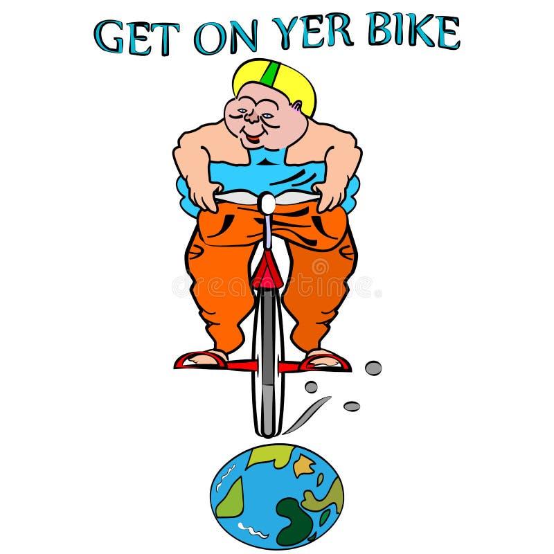 Cykla maskinen vektor illustrationer