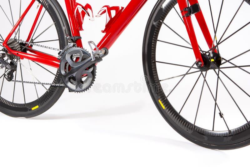 Cykla sportbegrepp Closeup av den yrkesmässiga vägcykeln royaltyfri fotografi