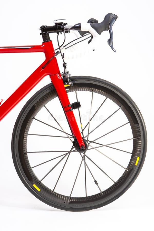 Cykla sportbegrepp Closeup av den yrkesmässiga vägcykeln arkivbild