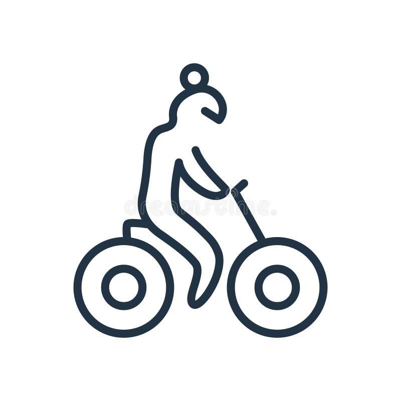 Cykla symbolsvektorn som isoleras på vit bakgrund, cykeltecken stock illustrationer