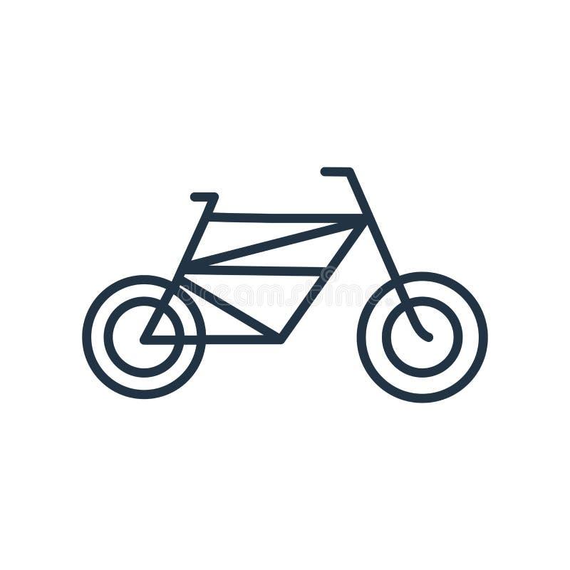 Cykla symbolsvektorn som isoleras på vit bakgrund, cykeltecken vektor illustrationer