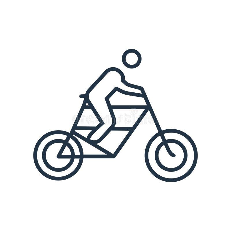 Cykla symbolsvektorn som isoleras på vit bakgrund som cyklar tecknet royaltyfri illustrationer