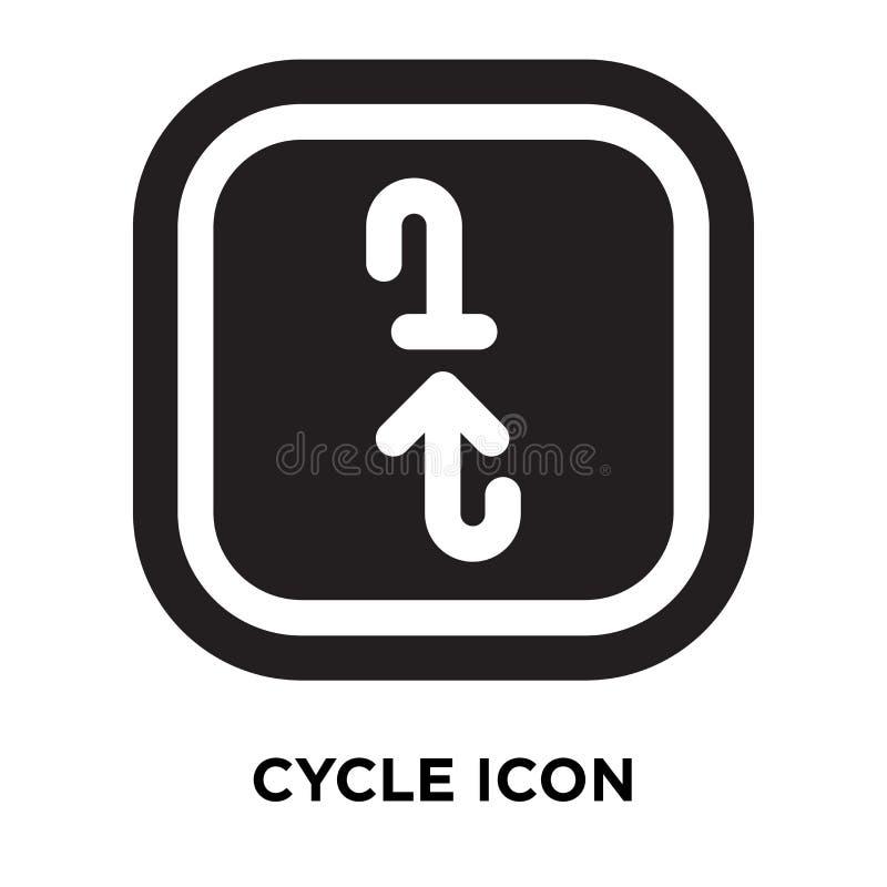 Cykla symbolsvektorn som isoleras på vit bakgrund, logobegrepp av vektor illustrationer