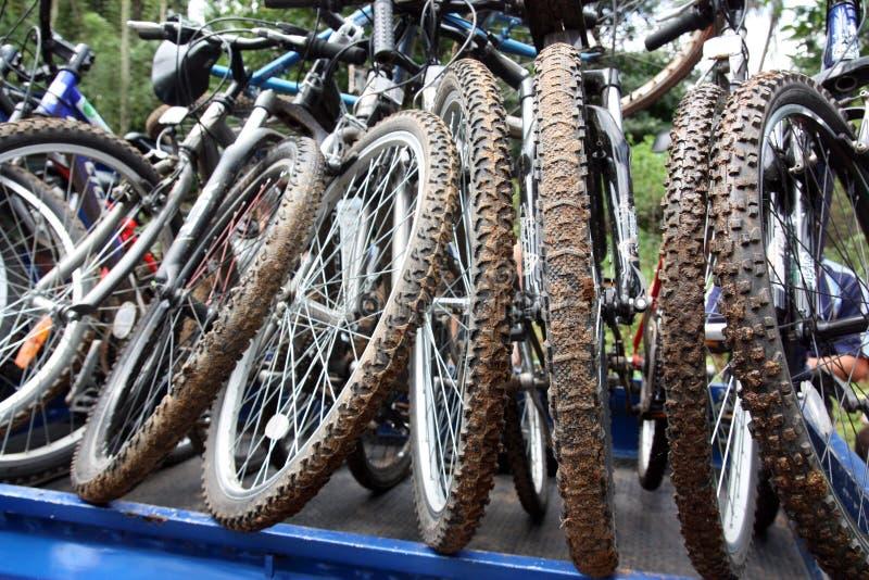 cyklar berg arkivbilder