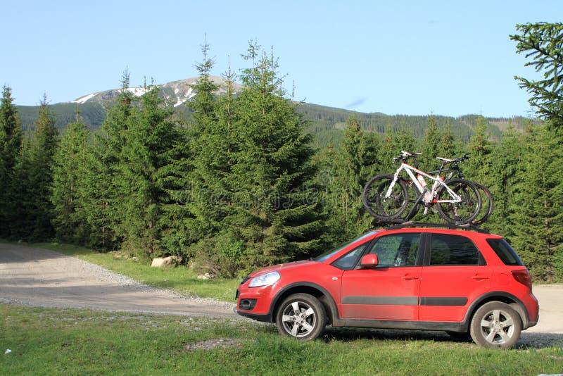cyklar bilberg fotografering för bildbyråer