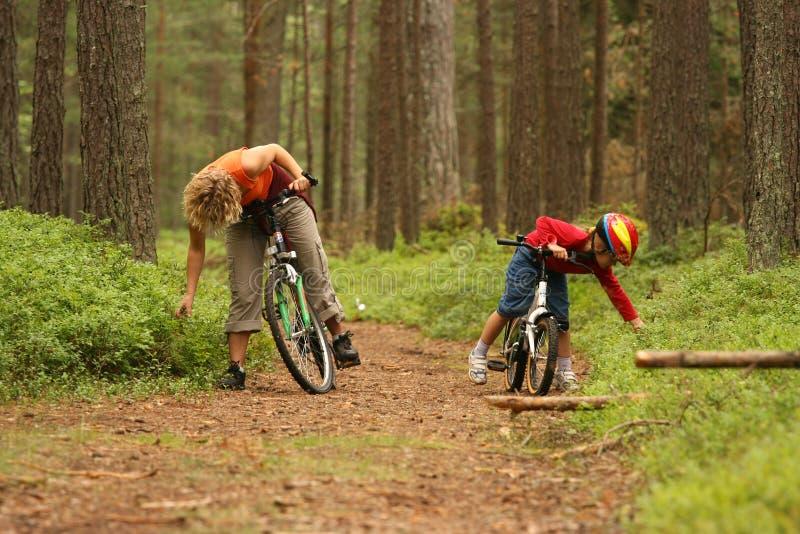 cyklar dottermodern fotografering för bildbyråer