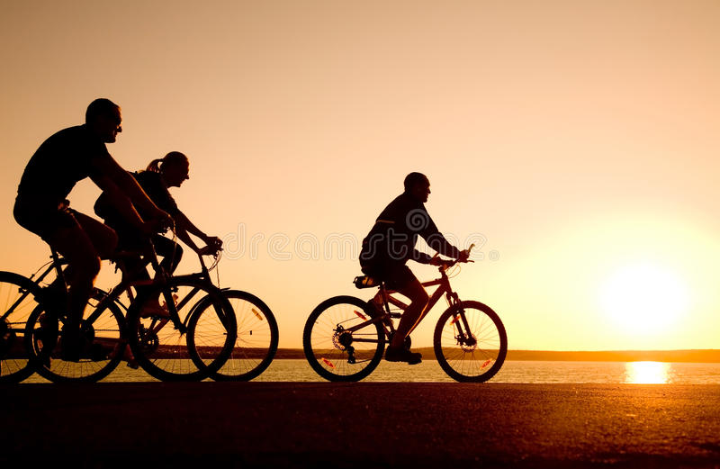 cyklar vänner royaltyfri foto