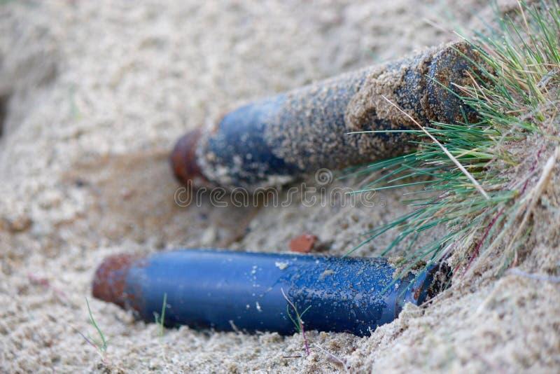 Cykle w piasku obrazy stock