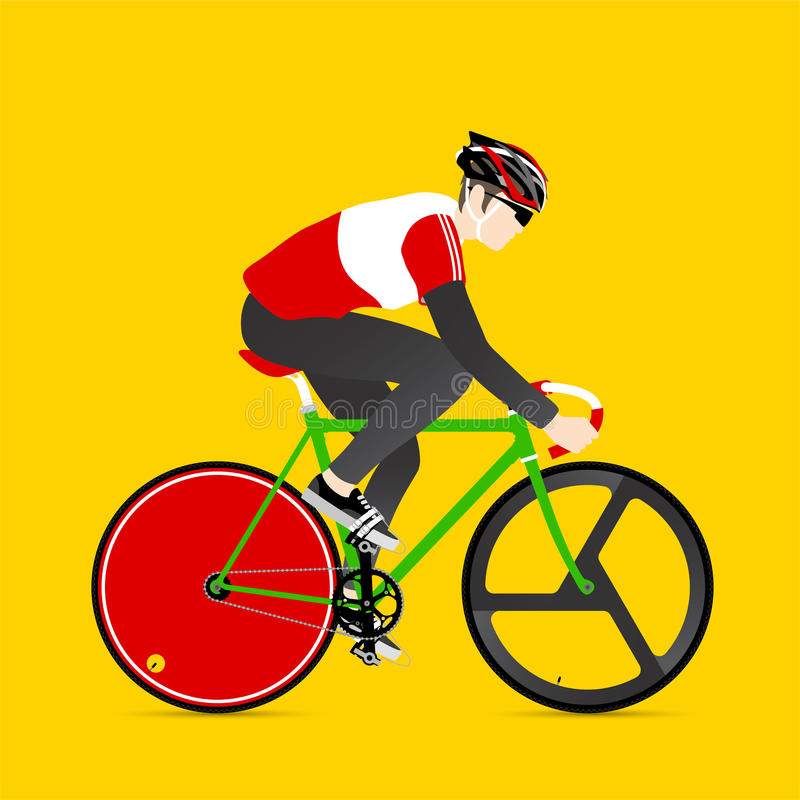 Cykliści i załatwiający przekładnia bicykl ilustracji