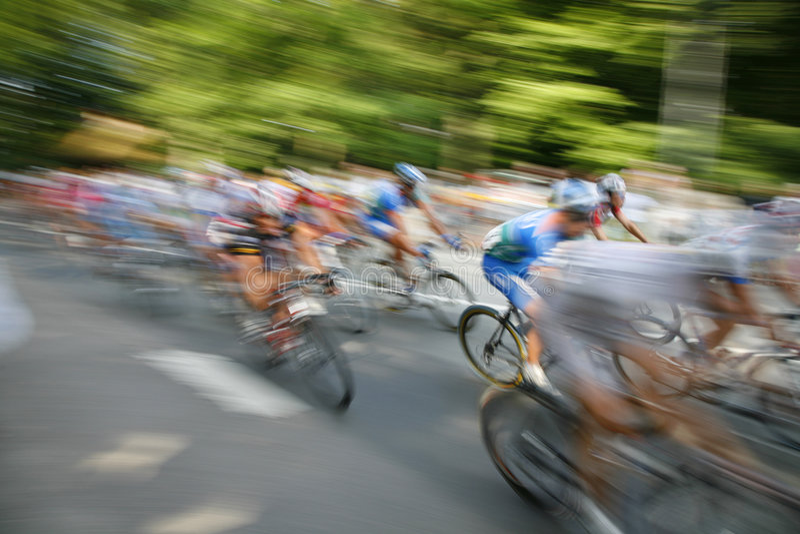 cykliści pośpieszni obraz stock