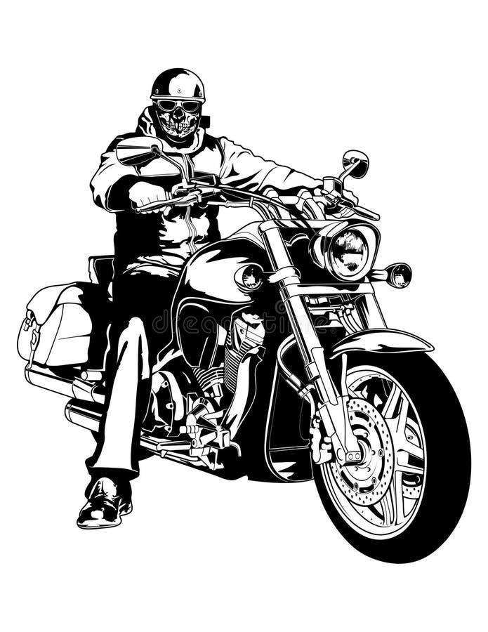 cyklist royaltyfri illustrationer