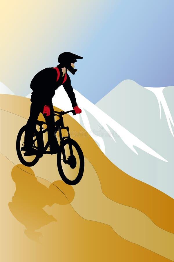 cyklist vektor illustrationer
