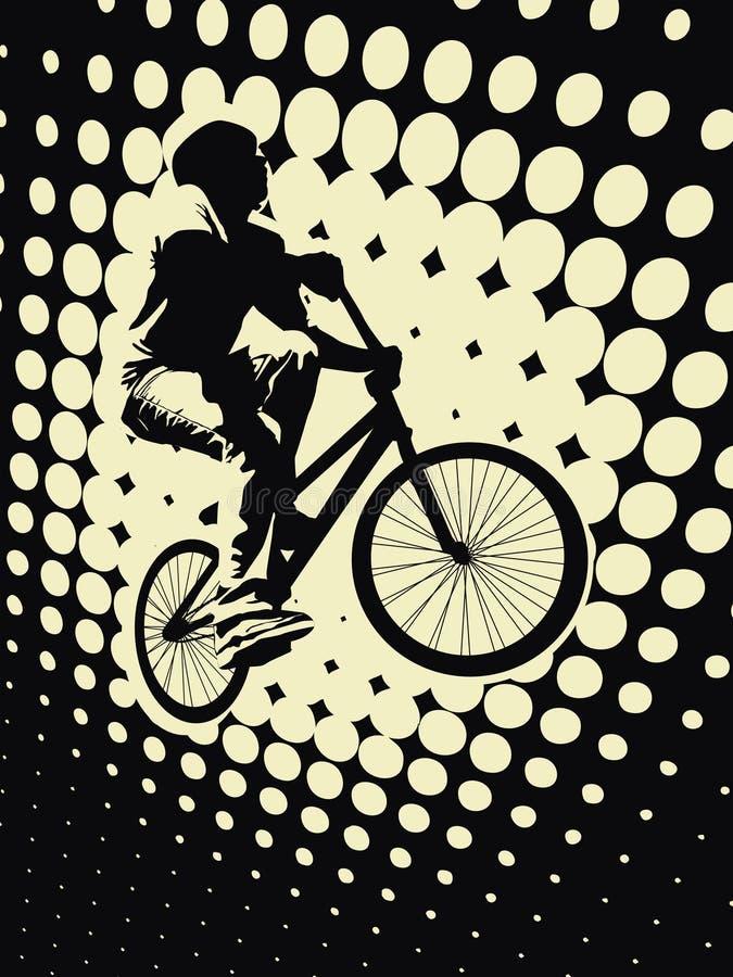 cyklist stock illustrationer