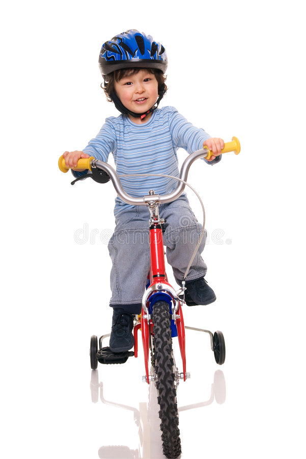 cyklist little arkivfoton