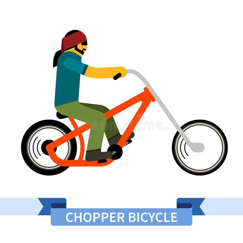 Cyklist på avbrytarcykeln stock illustrationer